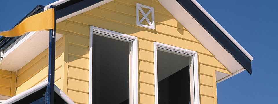 HardiPlank yellow weatherboard