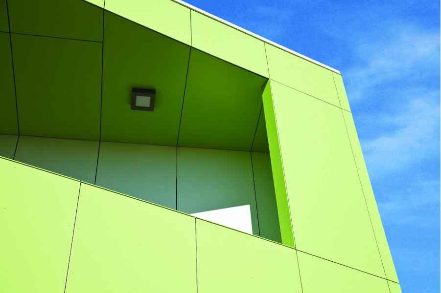 compressed fibre cement (CFC) facade panel