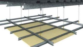 duo exposed grid ceiling system
