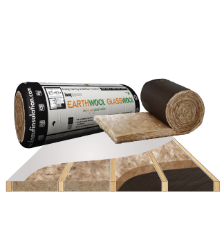 glasswool earthwool underfloor roll