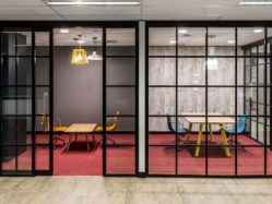 microline 40mm centre front glaze aluminium glazing frame and partitioning