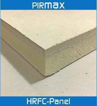 rigid thermoset insulation laminated with a 6mm fibre cement