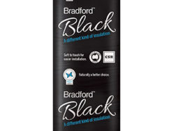 Glasswool Bradford black ceiling batts