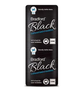 Glasswool Bradford black ceiling batts