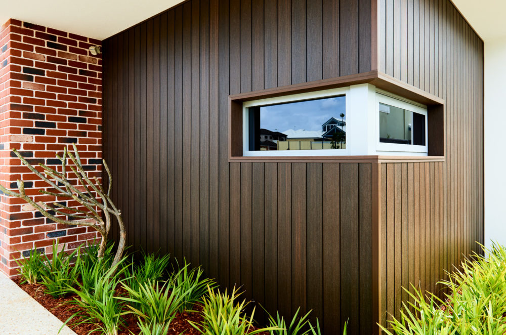 NewTechWood Composite shadowline wall cladding installation