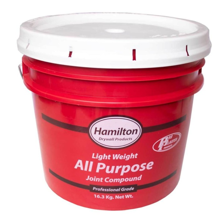 Hamilton drywall products light weight all purpose joint compound.
